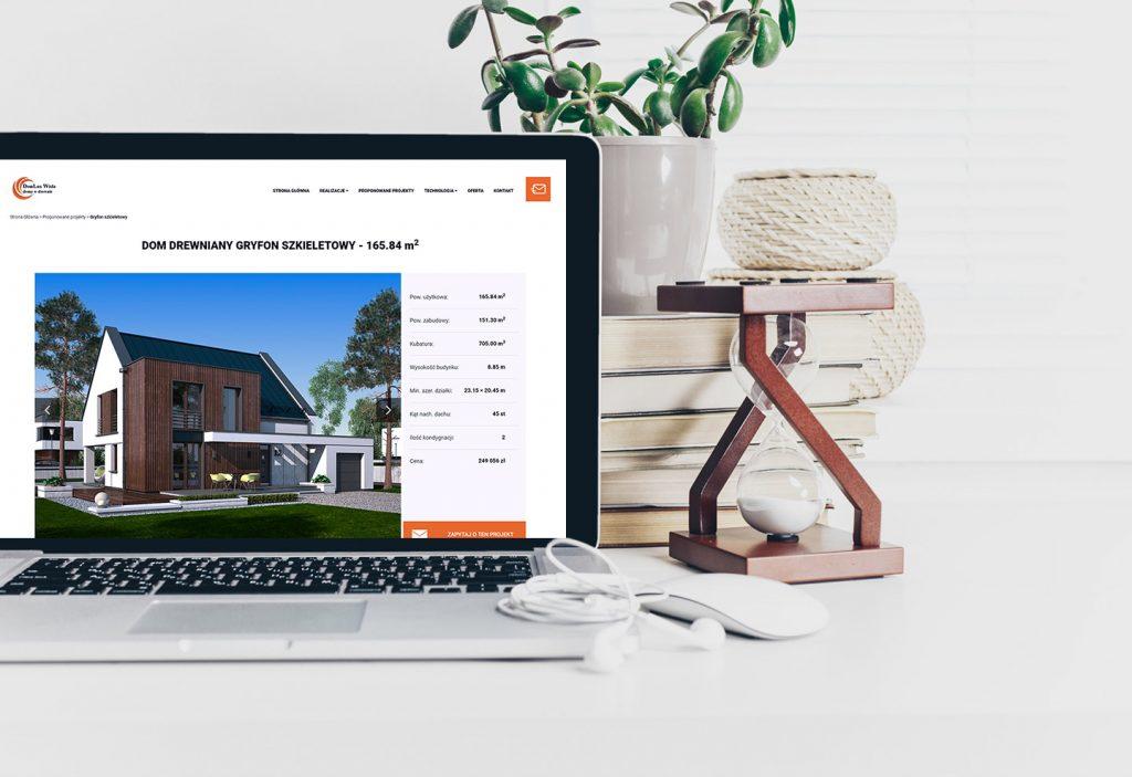 domy w drewnie stworzenie strony internetowej