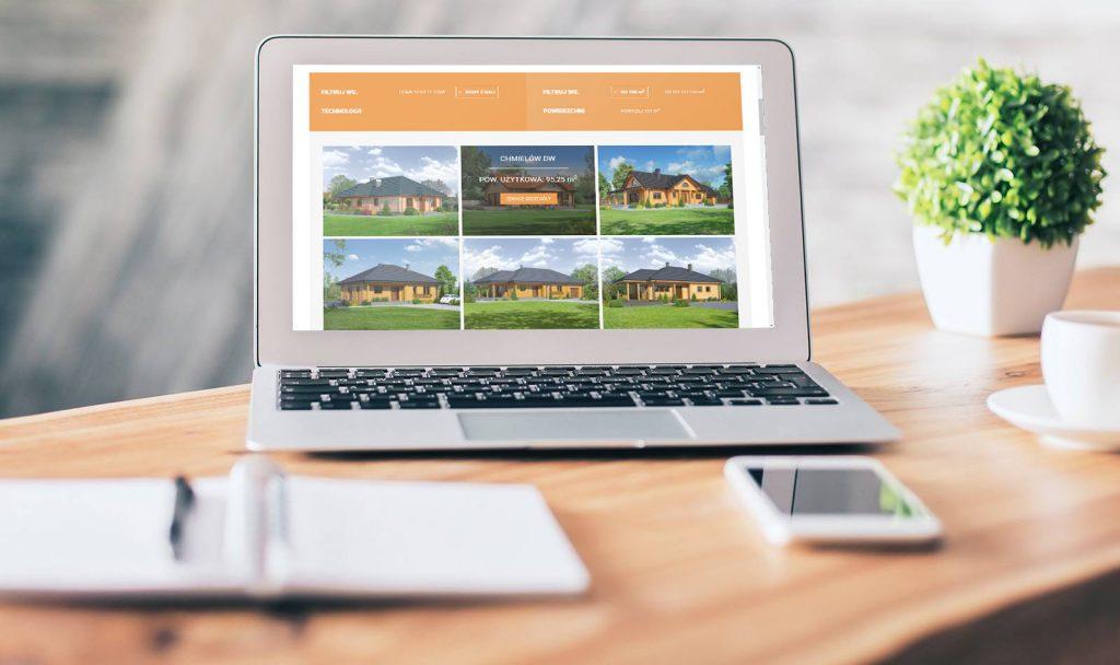 mobilna strona internetowa domy w drewnie
