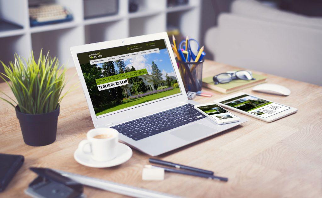strona www gardenart studio prezentacja