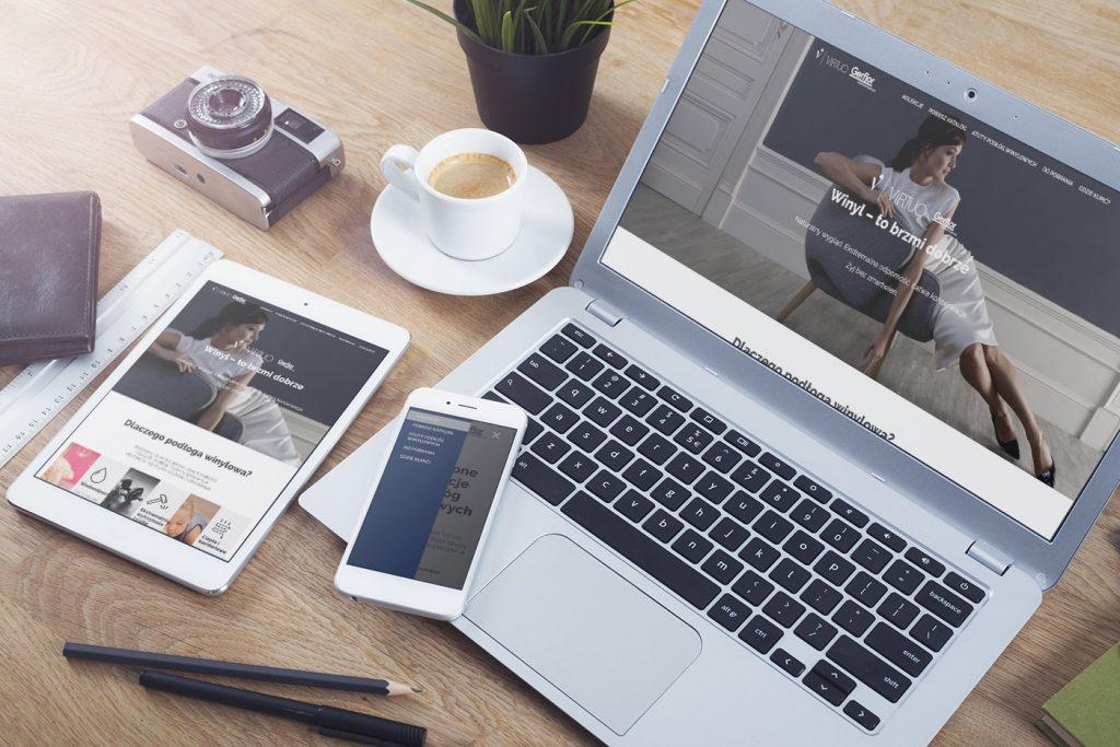 strona www podlogi virtuo prezentacja