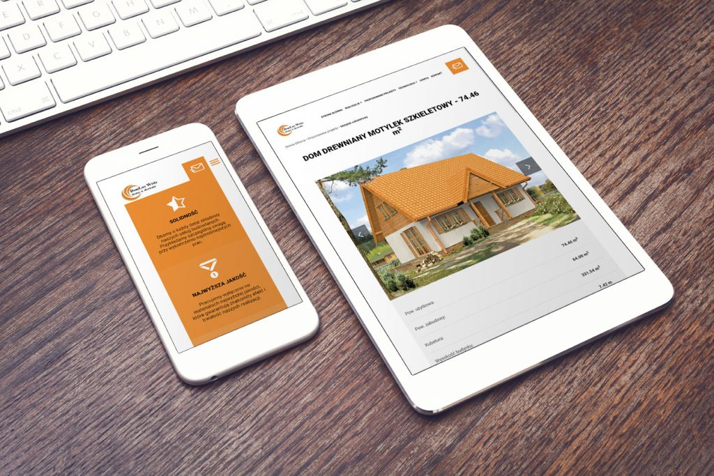 tworzenie mobilnych stron www domy w drewnie