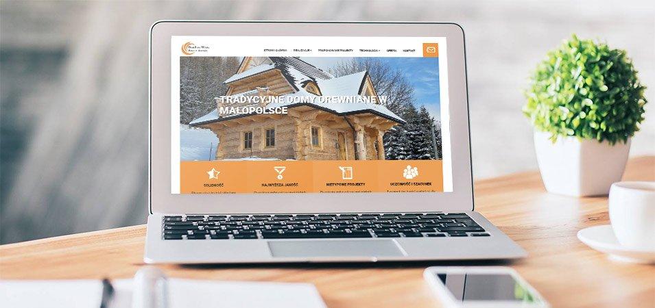 tworzenie strony internetowej domy w drewnie